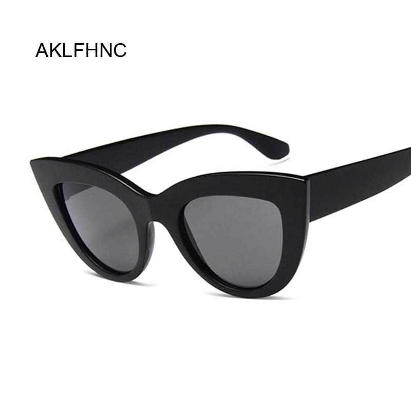 New Fashion Designer Sunglasses for Women Vintage Cat Eye Black Sun Glass 1