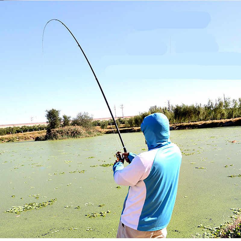 Canne à pêche télescopique de roche de Fiber de carbone portative 2.4 m-7.2 m tige de carpe dure ultralégère canne à pêche de mer télescopique