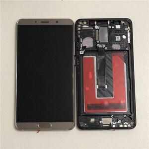 """Image 3 - 5.9 """"orijinal M & Sen Huawei Mate 10 için ALP L09 ALP L29 LCD ekran çerçeve + dokunmatik Digitizer için mate 10 LCD + Fingerprit"""