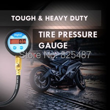 LEMATEC Pro Auto Motor Car vehicleTruck Tire pressure holding type digital tire air pressure gauge with hose LCD back-light