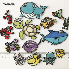 Whale, seahorse, Octopus Sea turtle Marine animal  Iron On Patch Embroidered Applique Sewing Clothes Stickers