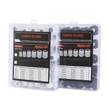 Makerele – Kit de presse-étoupes en plastique, Joints de presse-étoupes réglables de 3 à 15mm, noir