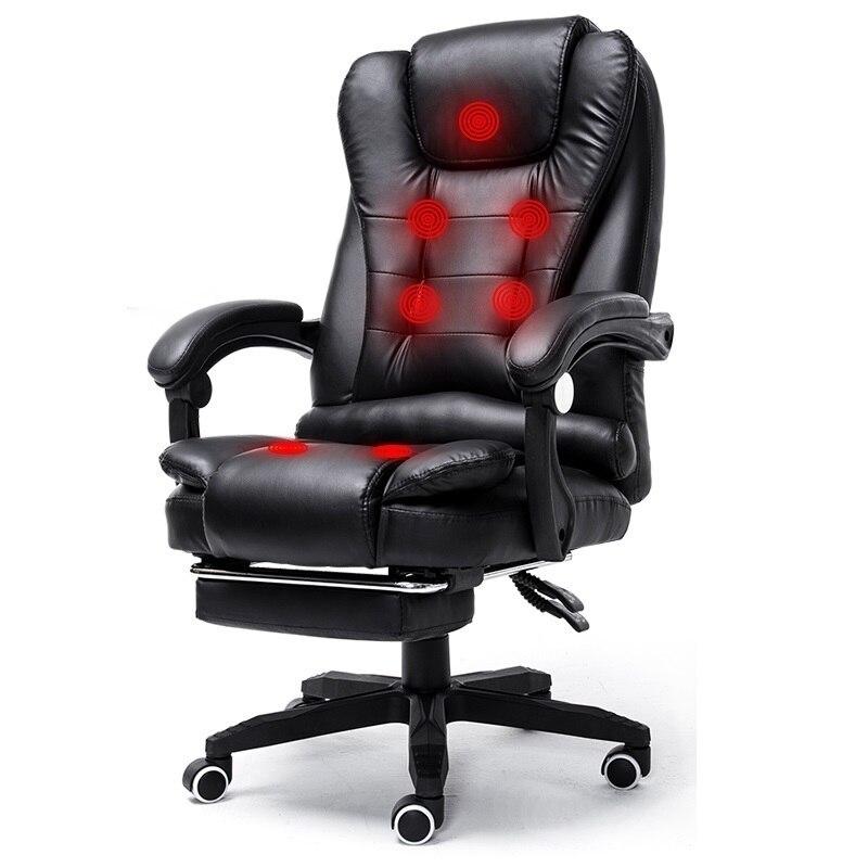 Fezes móveis Cadir Oficina Bureau Meuble Chefe Massagem Taburete Silla Gaming Computador Cadeira Poltrona de Couro Da Cadeira Do Escritório