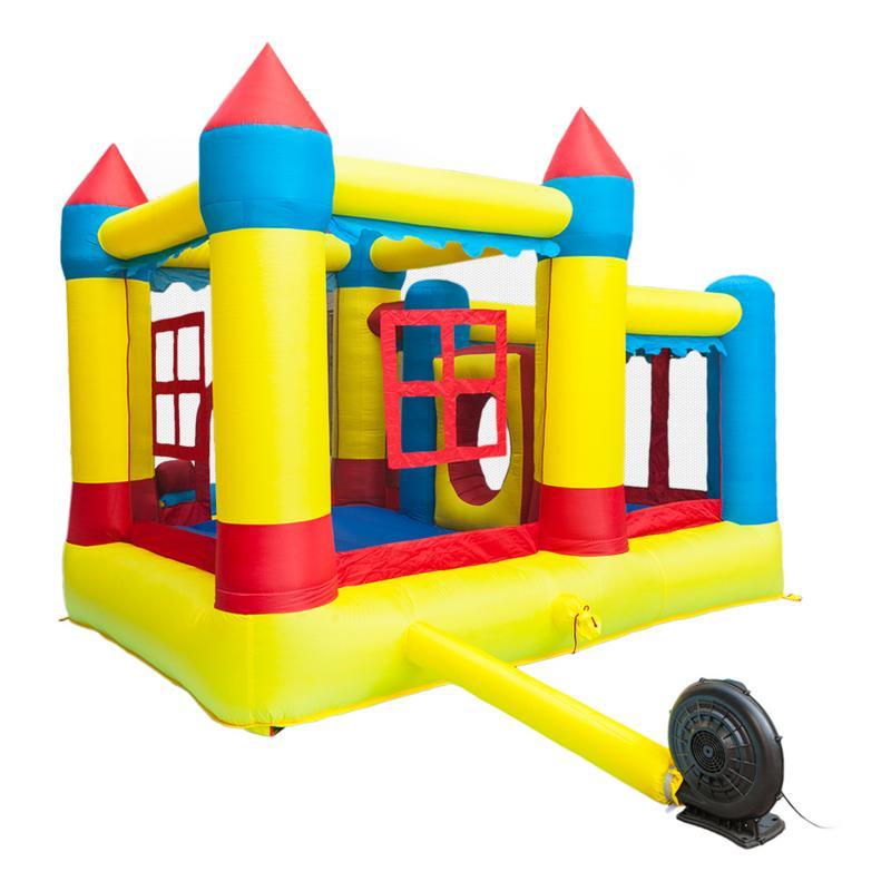 3.2x3x2.5 m 420D épais Oxford tissu gonflable rebond maison château balle Pit Jumper enfants jouer château multicolore