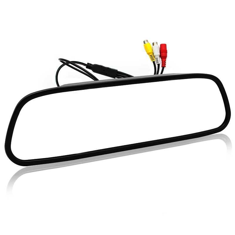 5 дюймов цифровой цвет Tft 800x480 ЖК дисплей автомобиля парковочный зеркальный монитор 2 видео вход для заднего вида камера парковочные системы (W