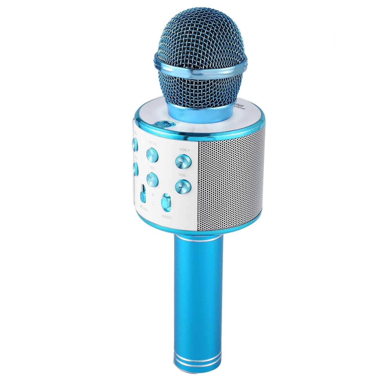 Micrófono de Karaoke inalámbrica Bluetooth portátil mini casa KTV para la música tocando y cantando altavoz reproductor Selfie teléfono PC