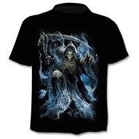 Футболка с черепом, футболка со скелетом, футболка с пистолетом, готические футболки, футболки в стиле панк, винтажные футболки в стиле рок, ...