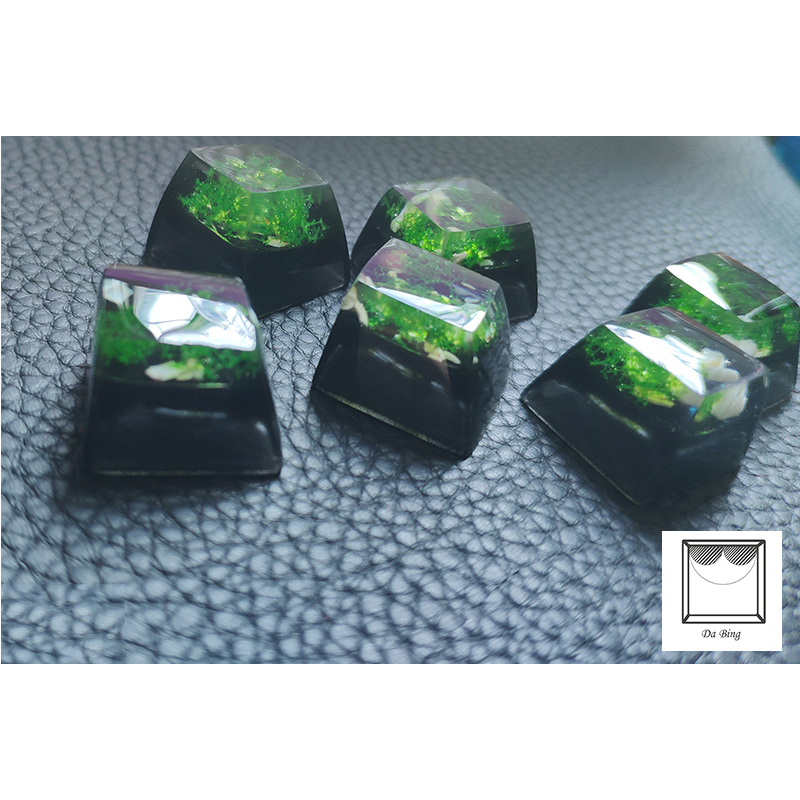 1 Piece Customized Mechanical Keyboard Key Cap Manual Resin Backlit Meadow Keycap For Cherry Filco