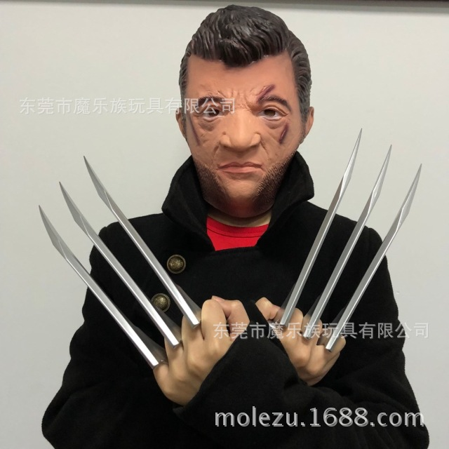 2pcs/pair X-Men Wolverines Logan Blade Claw Paw 1:1 Cosplay Prop Halloween Cosplay Prop Super Hero Cosplay Weapons Toy