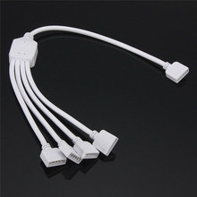 4PIN/5PIN 1to2/3/4 Splitter Female Connection Cable for RGB/RGBW LED Strip Light(China)