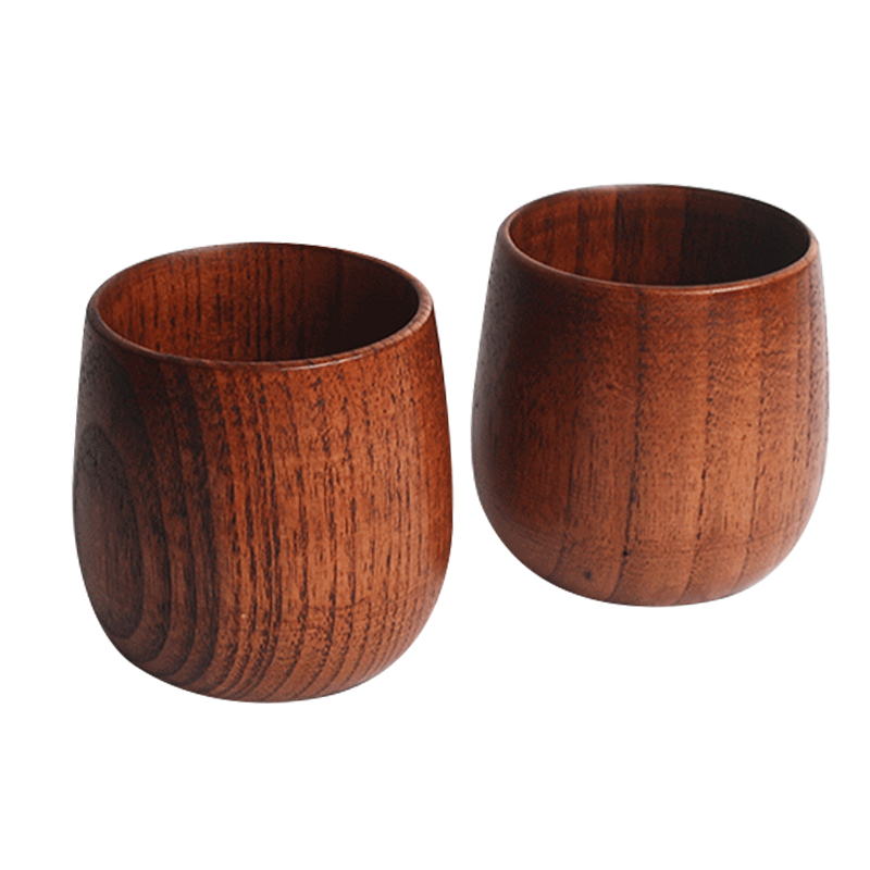 2Pcs Elegant/Fancy Jujube Wooden Coffee/Tea Cups/MugsCarved Wood Grain Decor Drinking Cup Wooden cup decoration mug drinking c