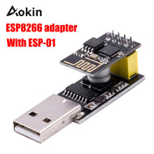 ESP01 Programmer Adapter UART GPIO0 ESP-01 ESP-01S Adaptaterr CH340G USB to ESP8266 Serial Wireless Wifi Developent Board Module(China)