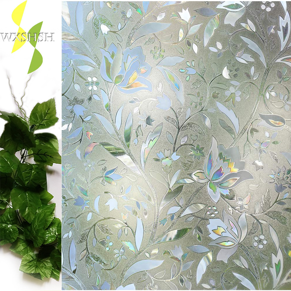 US $10.10 10% OFFTulip Decorative Window Film,No Glue Frosted Privacy  stickers,Stained Glass Door Foil,Static Cling/Vinyl/Heat Control/Anti