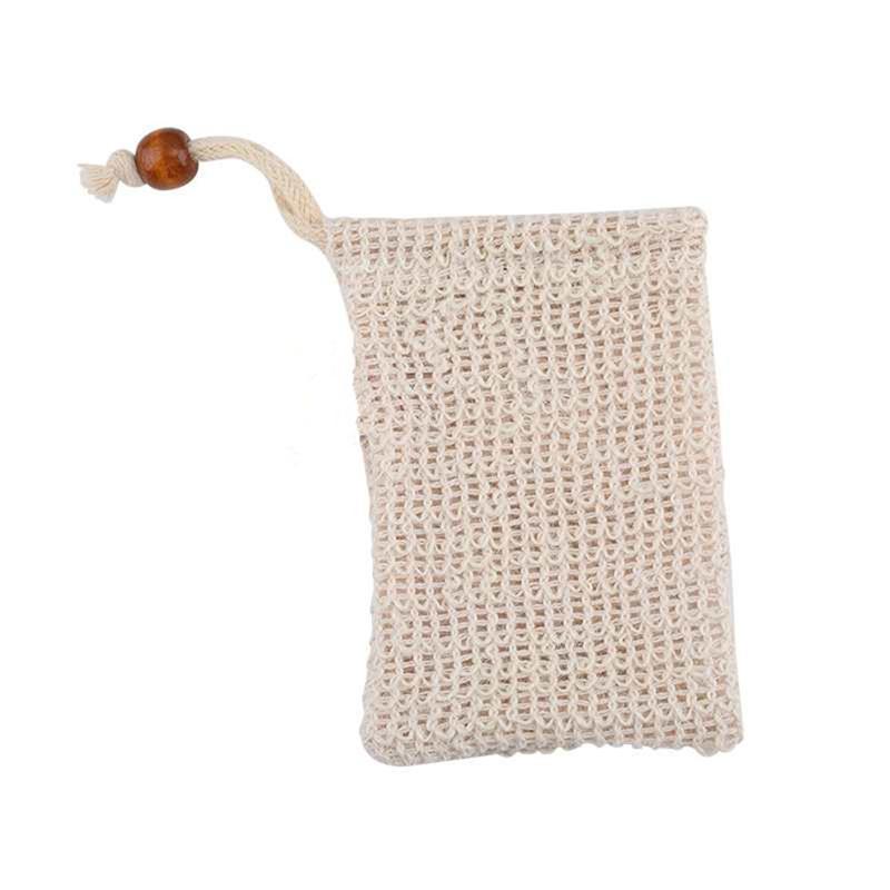 Natural Sisal Soap Bag Exfoliating Pouch Reusable Soap Saver