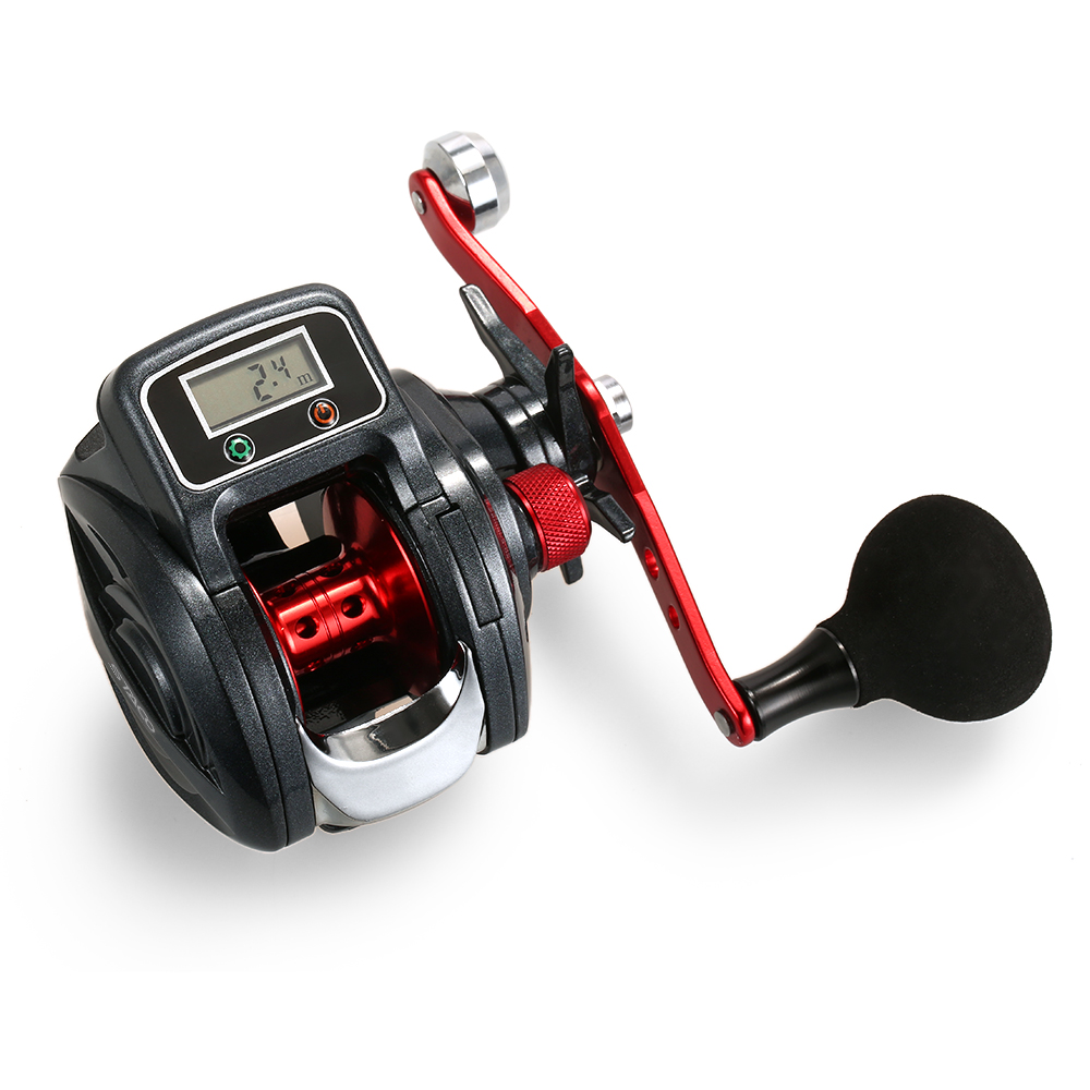 13 1 Ball Bearing Left Right Fishing Reel with Digital Display Baitcasting Line counter Reel 6