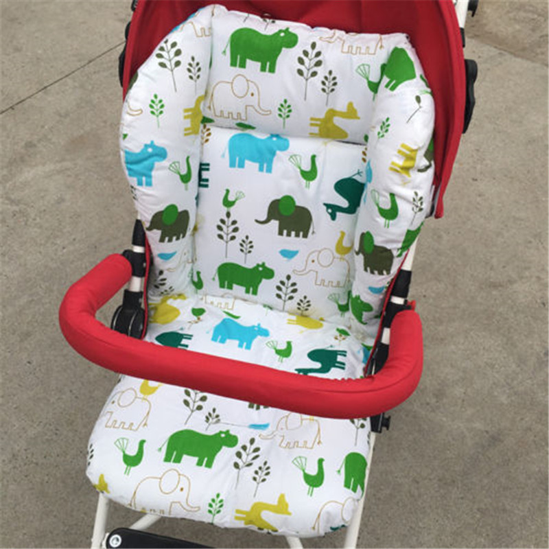 Cartoon Patterns Warm Stroller Cushion Seat Cover Diaper Pad Cotton Baby Cart Mat Kids Sleeping Mattress Pram Accessories Durable Service Activity & Gear