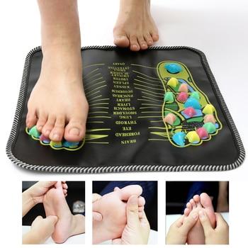 Reflexology caminar adoquines pie pierna dolor aliviar caminar masaje Mat cuidado de la salud acupresión Mat Pad acupuntura del pie masajeador