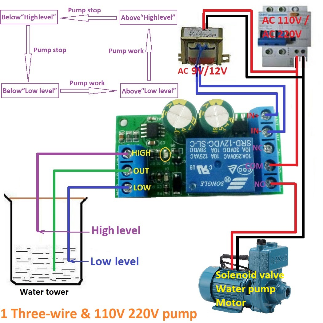 small resolution of 12v water level automatic controller liquid sensor switch solenoid valve motor pump automatic control relay board in relays from home improvement on