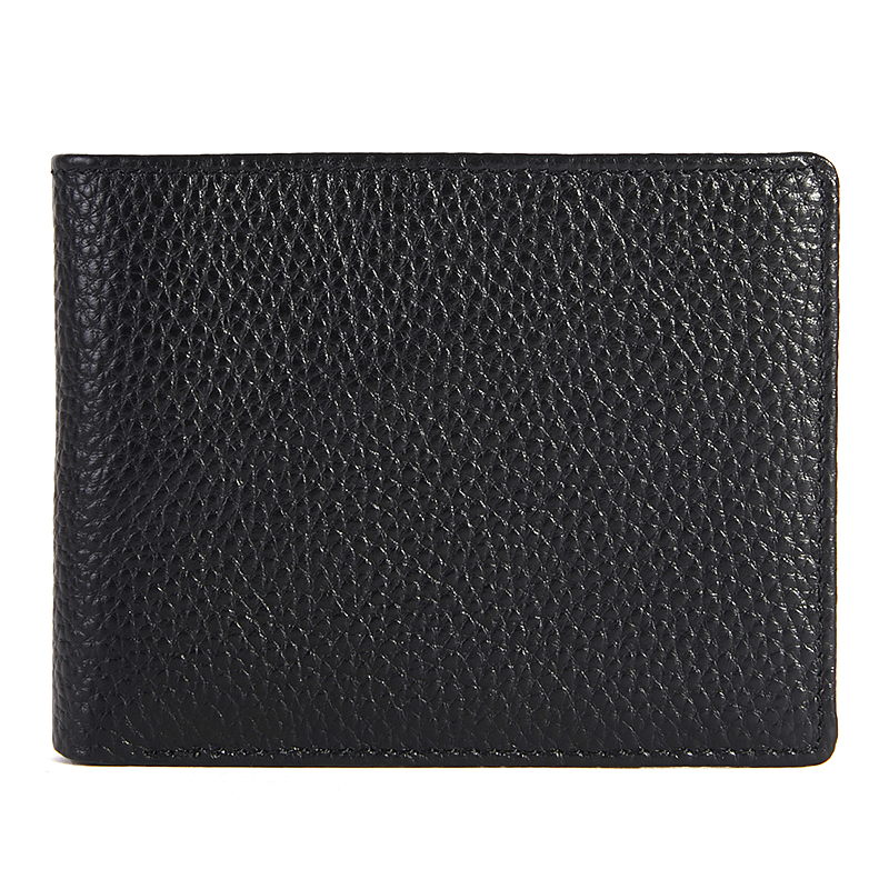 Business Men's Genuine Leather Short Wallet Black Small Credit Card Holder For Men Casual Brief Male Coin Purse Mini Clutch Bags