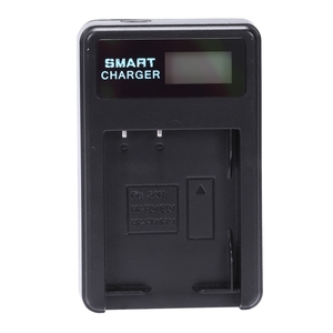 Image 2 - Smart Rechargeable Battery Charger Lcd Display Single Slot W Usb Cable For Np Bd1/Fd1/Ft1/Fr1 Lithium Batteries