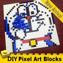 32x32 точки Изометрические пиксельные художественные кирпичи 1x1 Мини квадратные строительные блоки настенные портреты DIY домашнее украшение Совместимо с L* goeLY