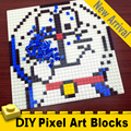 32x32 точки Изометрические пиксельные художественные кирпичи 1x1 Мини квадратные строительные блоки настенные портреты DIY домашнее украшение ...