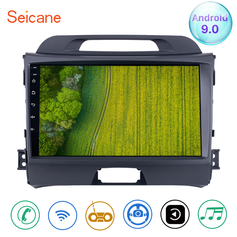 Seicane Android 9.0 2din 9 inch Wifi Head Unit Radio Audio GPS Multimedia Player For 2010 2011 2012 2013 2014 2015 KIA SportageSeicane Android 9.0 2din 9 inch Wifi Head Unit Radio Audio GPS Multimedia Player For 2010 2011 2012 2013 2014 2015 KIA Sportage
