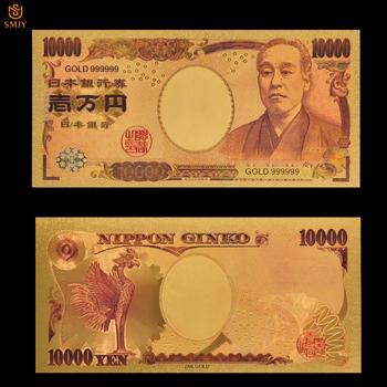 Japan Gold banknot 10000 jenów kolorowe skopiować oryginalnego krajowych pieniądze papierowe kolekcje banknotów spadek zakupów tanie i dobre opinie Patriotyzmu Pozłacane Japan style SMJY Banknote Japanese Currency 10000 Y As Real Size Copy Genuine Banknotes Multicolor