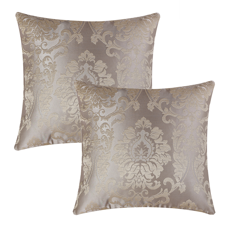 GIGIZAZA 2 Pack Luxury Jacquard Fabric Decorative Home Throw <font><b>Pillow</b></font> Cover For Sofa Bedroom Cushion Cover <font><b>Case</b></font> 45x45cm/<font><b>50x50cm</b></font> image