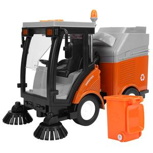 Image 2 - Simulation Road Sweeper Car Toy Garbage Truck Sanitation Disposal Streetcar Model Light Music Pull back Vehicle Early Education