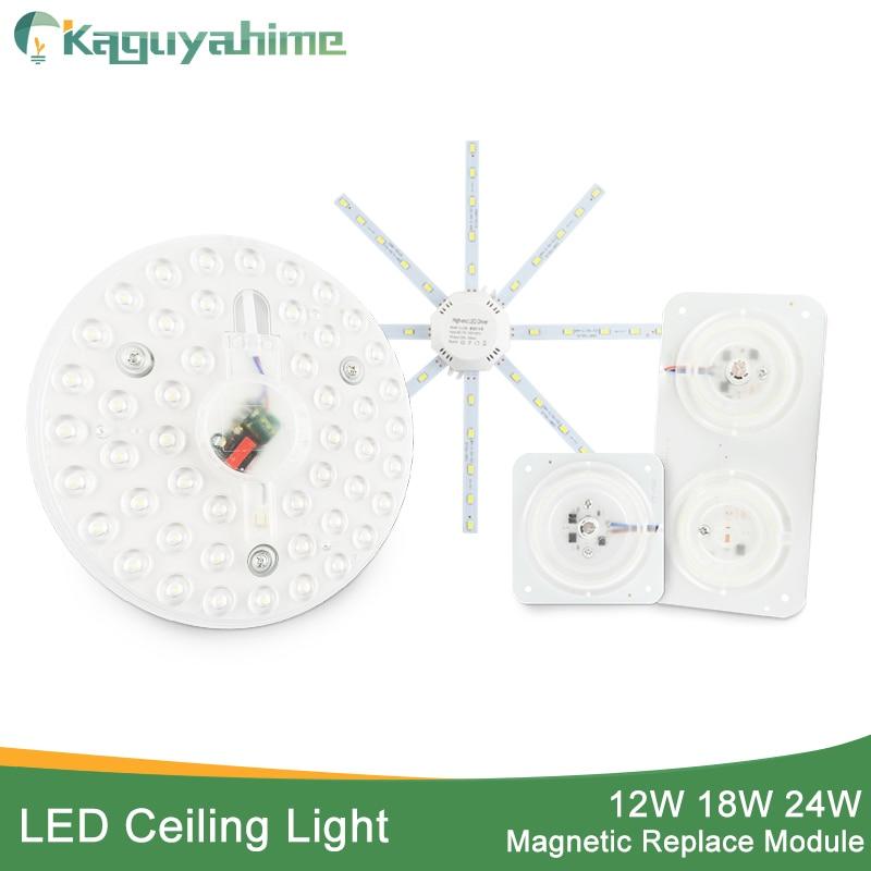 Kaguyahime LED Module Light Source Mini/Octopus/Round Lamp Bulb Tube Ring 220V 12W 18W 24W Spotlight Indoor Ceiling Light
