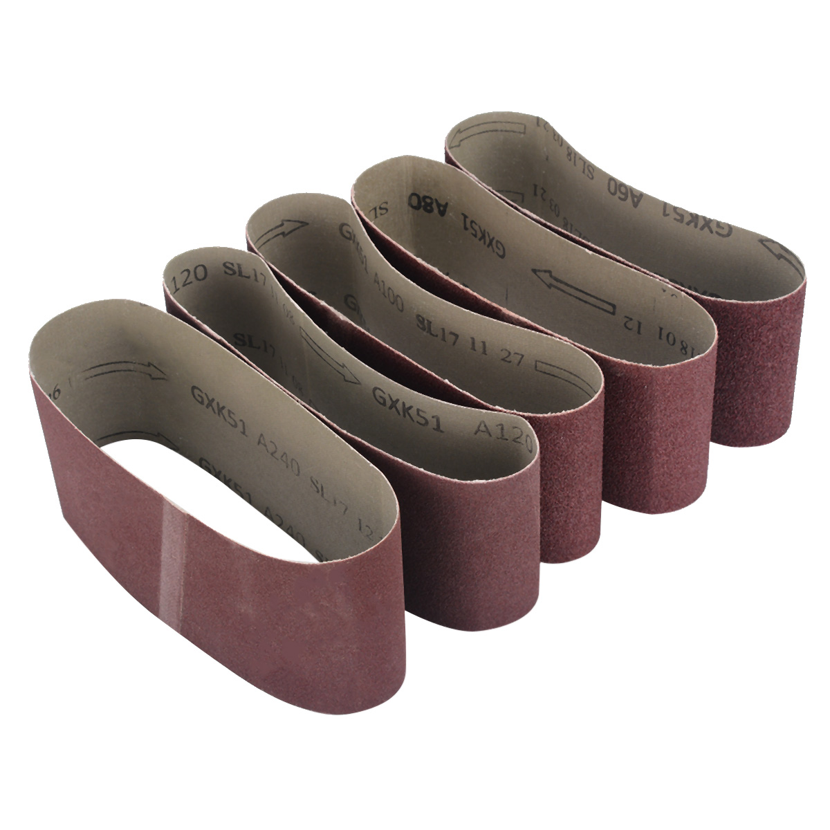 5pcs 75*457mm Abrasive Sanding Belts Grits Sander Power Abrasive Tools  60/80/100/120/240