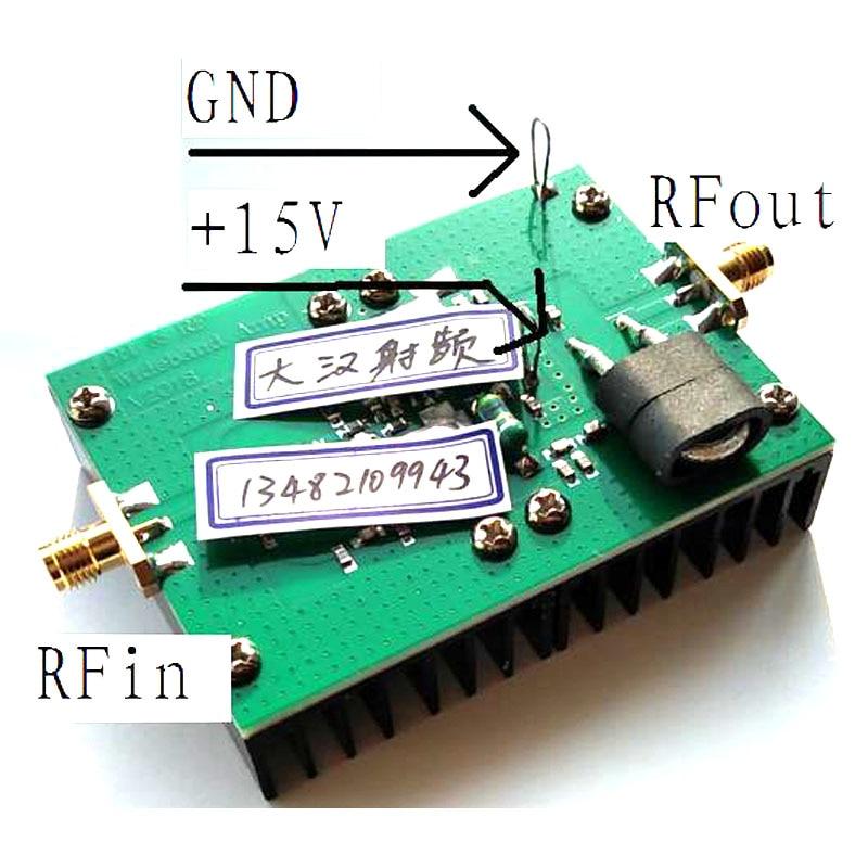 20MHz 512MHz 5W broadband RF linear power amplifier 72MHZ 315MHHZ 433 MHZ FM radio transmitter UV