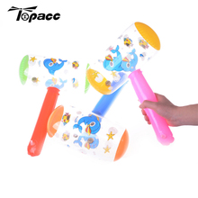 4 шт. горячий милый мультфильм надувной молоток воздушный молоток с колокольчиком Дети взорвать шум чайник игрушки цвет случайный
