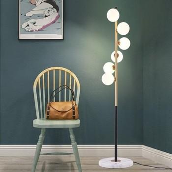 Nordic nowoczesny doprowadziły salon szklane stojące oprawy lampy podłogowe lampki nocne oświetlenie domu Deco oprawy oświetleniowe lampy pokojowe lampy podłogowe tanie i dobre opinie 16-20 w Metal Łóżko pokój 220 v Szkło iron Żarówki led Galwanicznie Postmodern Nordic Dotykowy włącznik wyłącznik