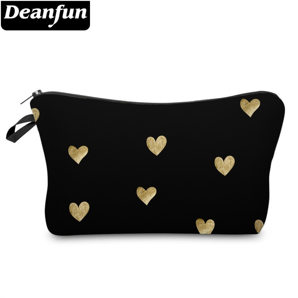 Deanfun Waterproof Cute Love Heart Cosmetic Bags Roomy Makeup Bag Travel Cases Organizer Christmas Gift Bags Dropshipping 51356