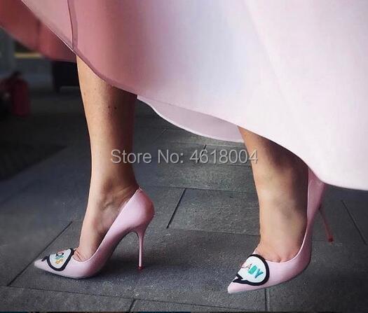 9 pink Brodé Stilettos Parti Verni Et Hauts Robe Patron Kalmall Dame Chaussures Cuir Sur Pompes Rose 8 10 black Cm Femmes Talons Glissement En Les Cm Pink With Cm Sg0Oq06