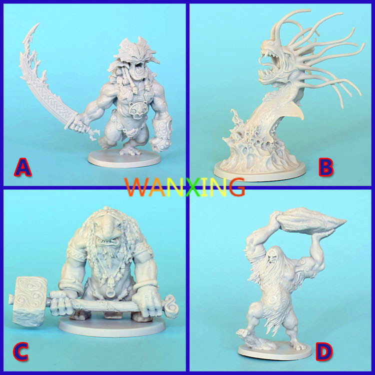 1/48 Scale Model Kit CMON Board Game Role Playing Blood Rage Resin Monster DIY Hobbies Toys For Children Free Shipping