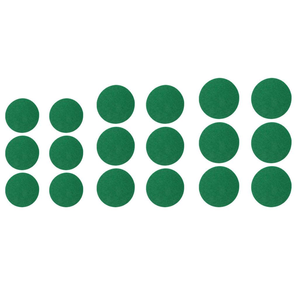 6 шт. самоклеющиеся Фибрового Картона Air Хоккей Таблица толкатели Замена войлочные прокладки Крытый Air хоккейные аксессуары зеленый выбор размеры