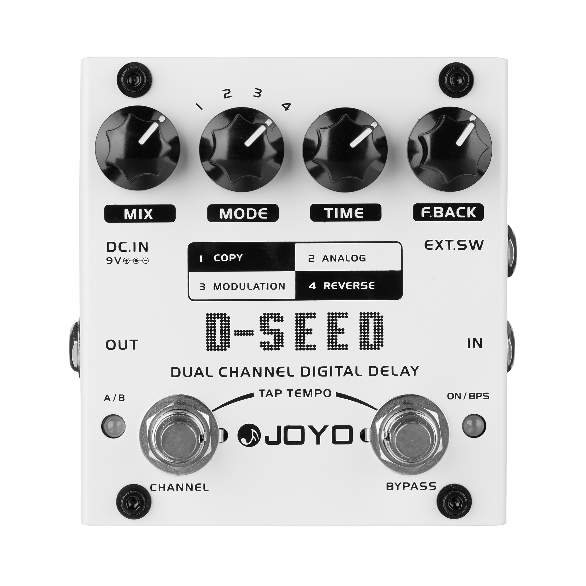 JOYO Dual Channel Digital Delay Guitar Effects Pedal D-SEED Guitarra Stompbox Four ModesJOYO Dual Channel Digital Delay Guitar Effects Pedal D-SEED Guitarra Stompbox Four Modes