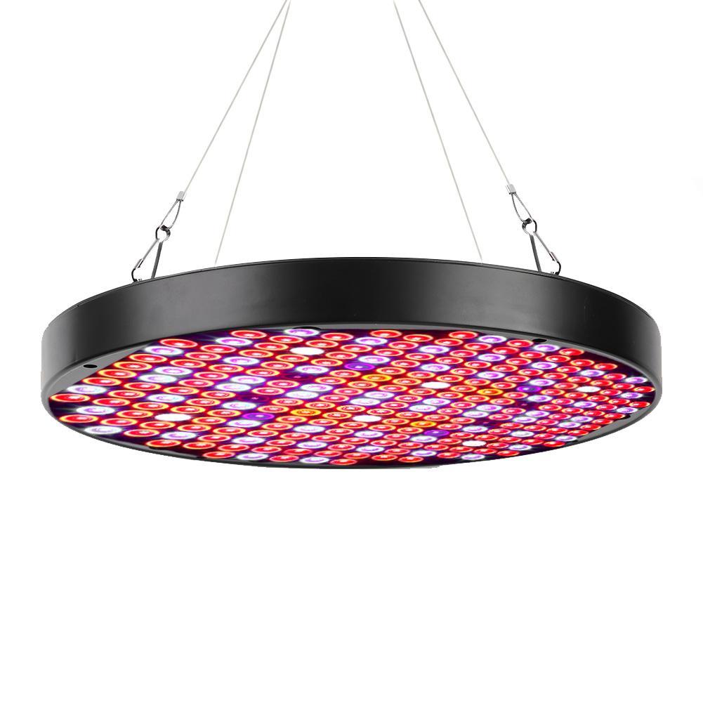 led light grow AC85-265V 50W Indoor Plants LED Growing Light Full Spectrum Round Plant Grow Lamp Black full