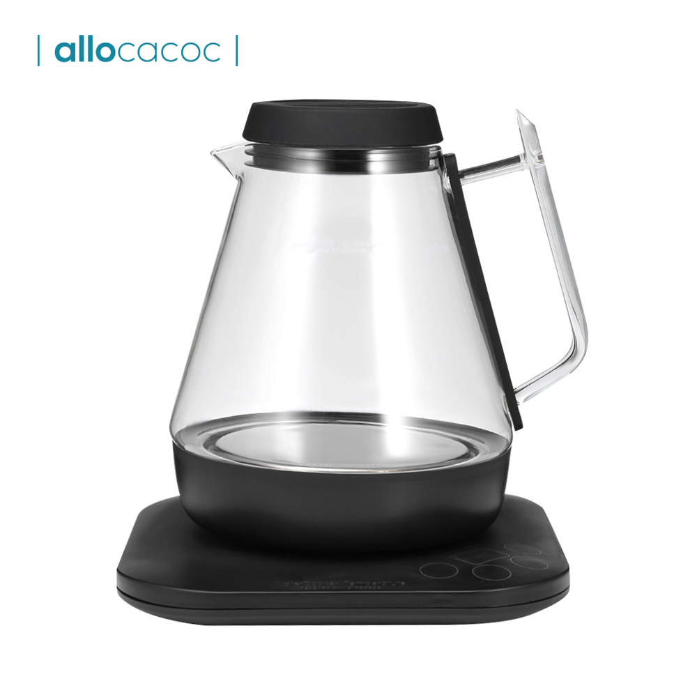 Allocacoc 1.3L Intelligent Electric Kettle Teapot Quick Heat Hot Water Boiling Tea Pot Smart Glass Electric Kettle Water BoilerAllocacoc 1.3L Intelligent Electric Kettle Teapot Quick Heat Hot Water Boiling Tea Pot Smart Glass Electric Kettle Water Boiler