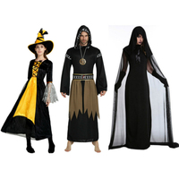 Anime Cosplay for Witch Demon Robe Jumpsuit and Women Dress Vestidos Sorcerers Costume for Adult in Carnaval Halloween Party
