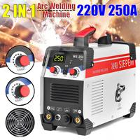 220V 250A IP21 7000W Inverter Arc TIG 2 IN 1 Electric Welding Machine IGBT Inverter With Connector for Welding Working