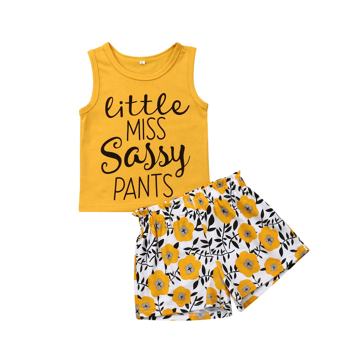 2019 Summer Kids Baby Girl Clothes Set Vest T-shirt Tops Flower Shorts Casual Toddler Children Girls Clothing 1-5Y new