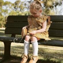0-4Y bebé niña princesa vestido de chico amarillo vestido Vintage Floral fiesta desfile vacaciones vestidos de boda bebé niña ropa de verano