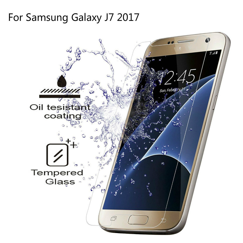 2.5D Protective Glass On For Samsung Galaxy J7 2017 EU Version Tempered Glass For Samsung J7 2017 Screen Protector For SM-J730F