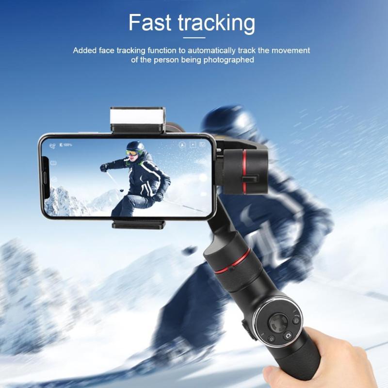 V5 3 axes réglage à distance Angle Simple opération stabilisateur de cardan portable pour iPhone Samsung Smartphone GoPro caméra d'action