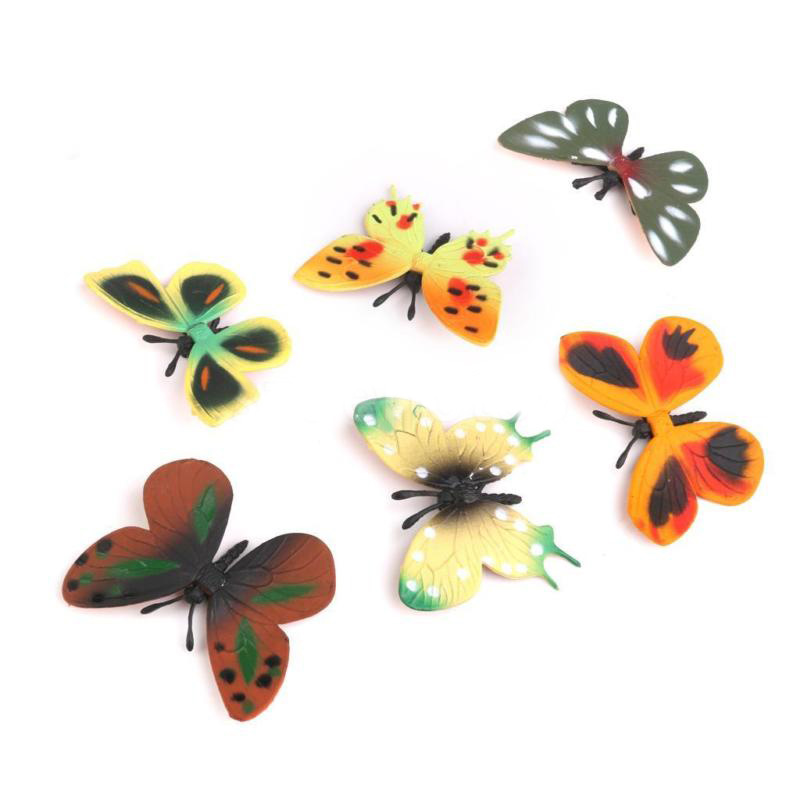 12pc Lifelike Butterfly Bug Insect Animal Figures Model Kids Party Bag Toy Gifts