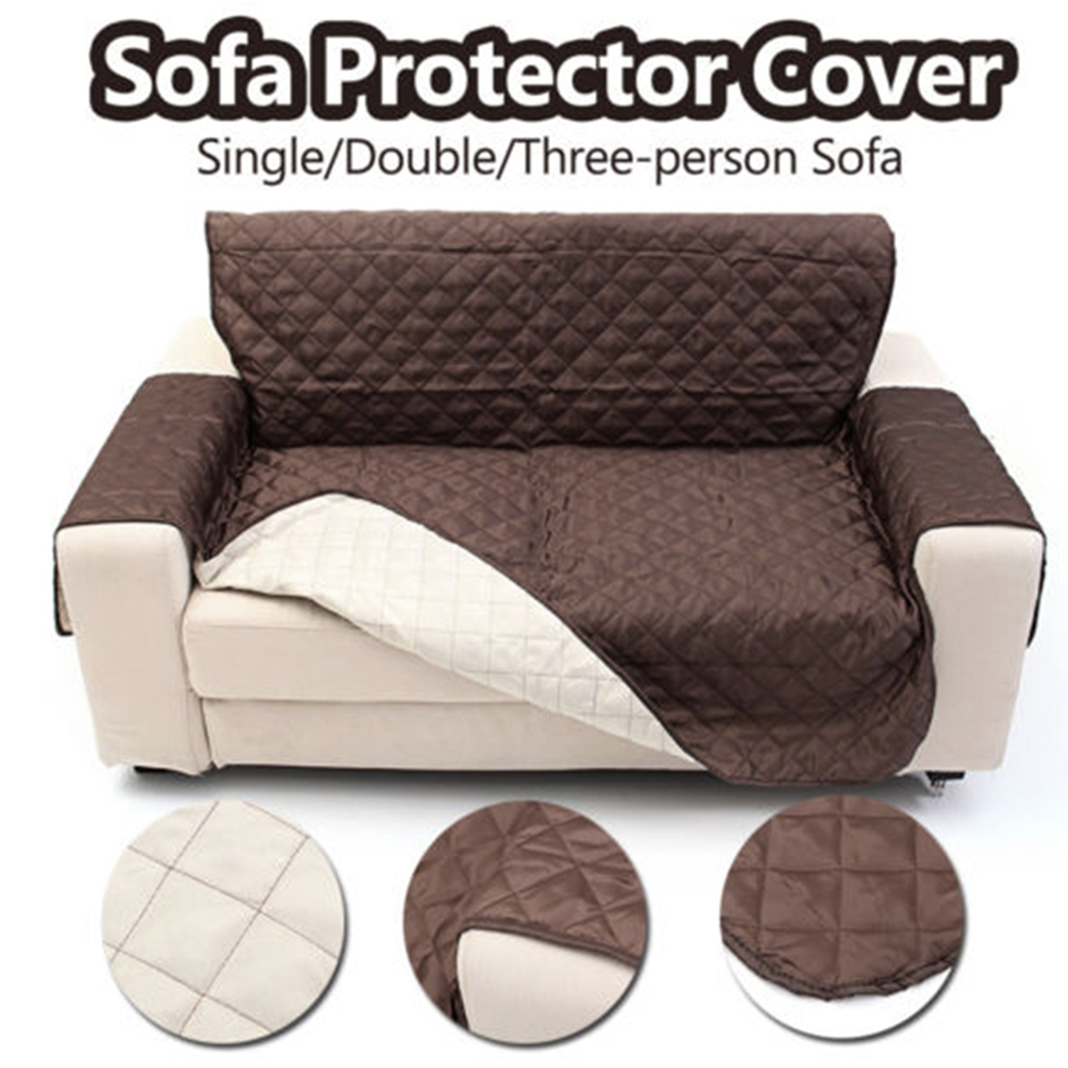 Single//Double//Three Seater Couch Seat Sofa Slipcover Furniture Protector Cover
